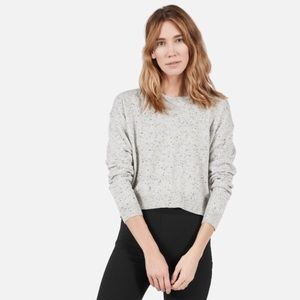 Everlane Cropped Cashmere Crew Donegal